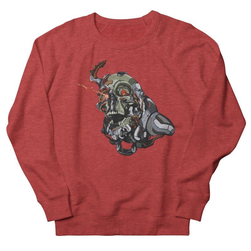 CyberSkull Men's French Terry Sweatshirt by FunctionalFantasy Artist Shop