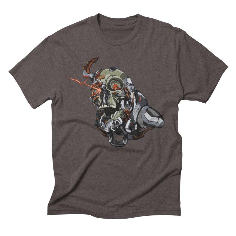 CyberSkull Men's Triblend T-Shirt by FunctionalFantasy Artist Shop