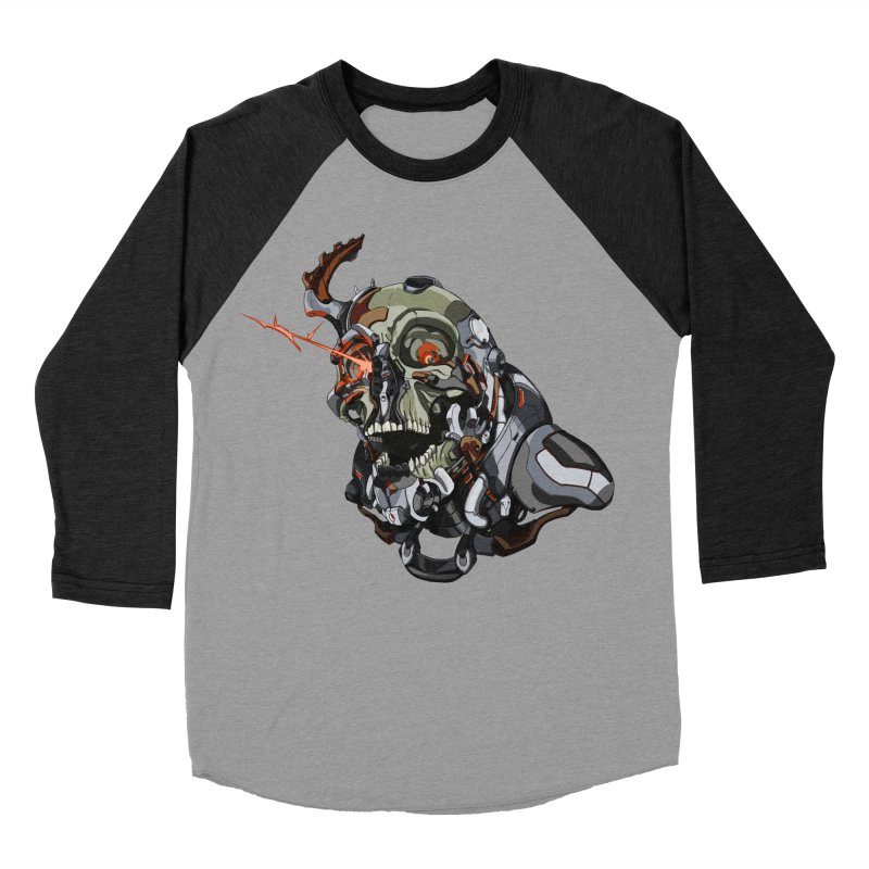 CyberSkull Women's Baseball Triblend Longsleeve T-Shirt by FunctionalFantasy Artist Shop