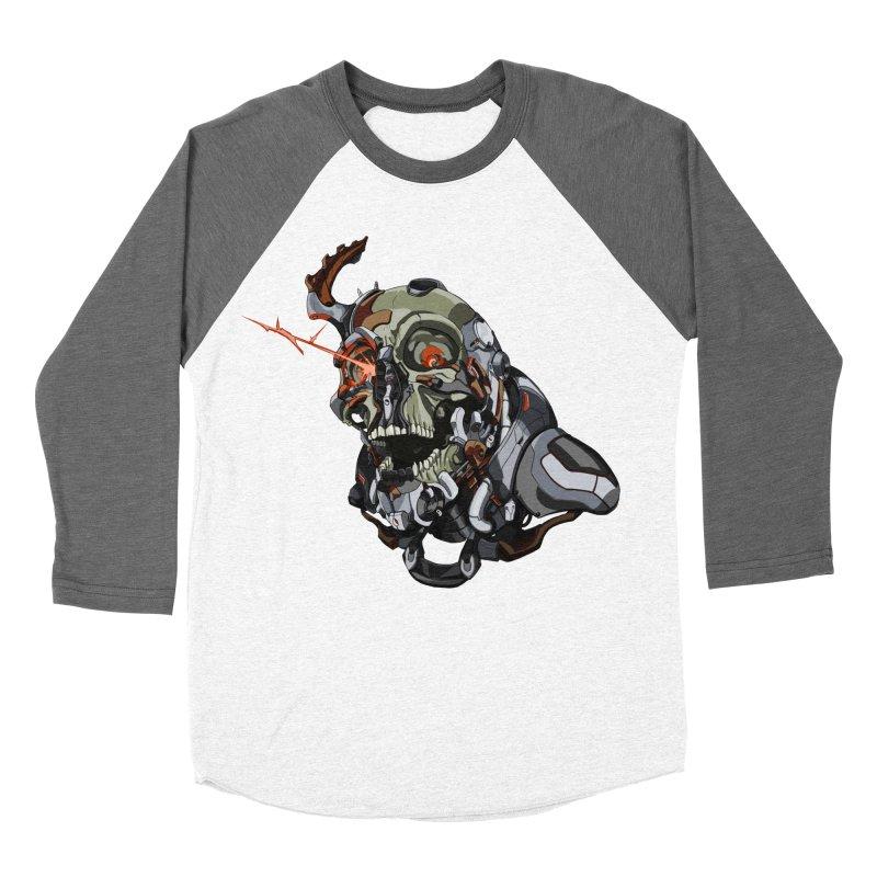 CyberSkull Men's Baseball Triblend Longsleeve T-Shirt by FunctionalFantasy Artist Shop