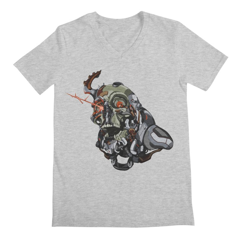 CyberSkull Men's Regular V-Neck by FunctionalFantasy Artist Shop