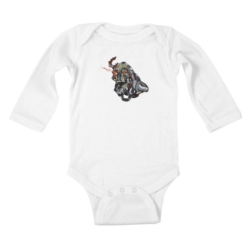 CyberSkull Kids Baby Longsleeve Bodysuit by FunctionalFantasy Artist Shop