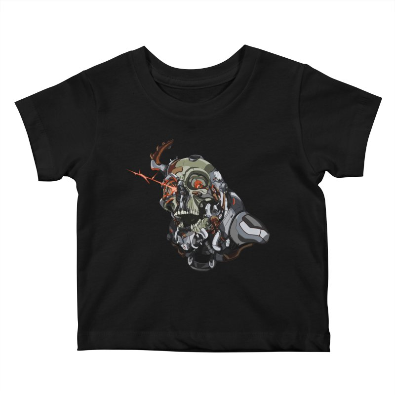 CyberSkull Kids Baby T-Shirt by FunctionalFantasy Artist Shop