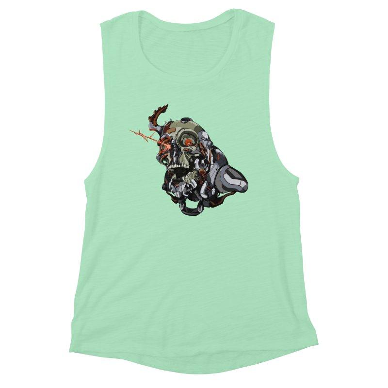 CyberSkull Women's Muscle Tank by FunctionalFantasy Artist Shop