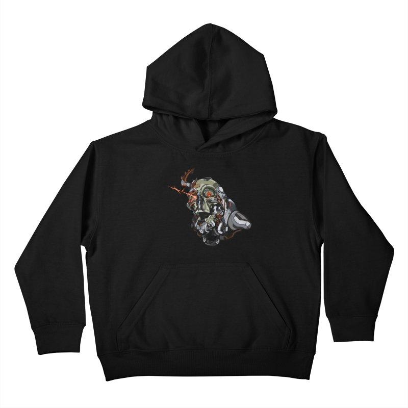 CyberSkull Kids Pullover Hoody by FunctionalFantasy Artist Shop