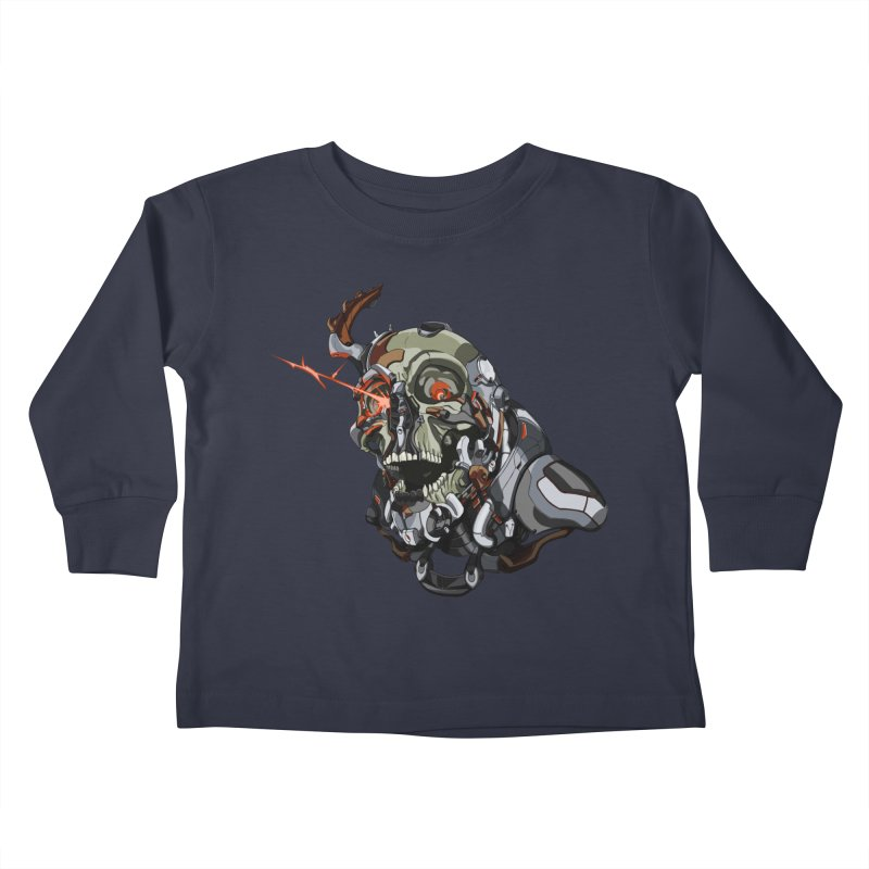 CyberSkull Kids Toddler Longsleeve T-Shirt by FunctionalFantasy Artist Shop