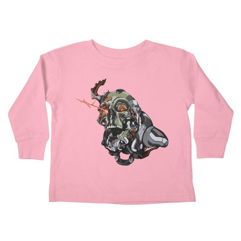 CyberSkull Kids Toddler Longsleeve T-Shirt by FunctionalFantasy Artist Shop