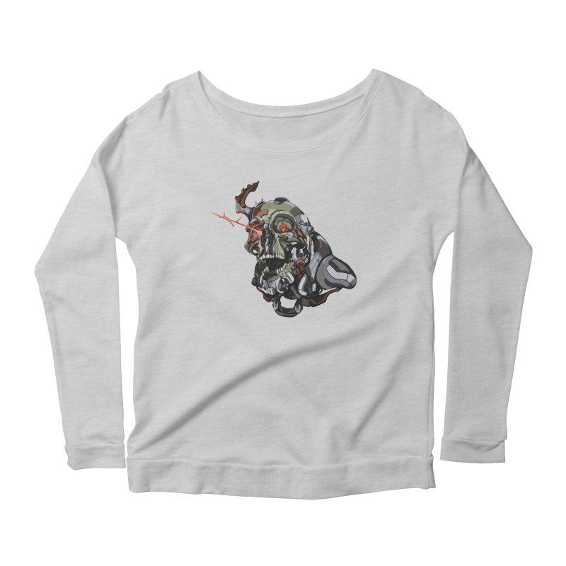 CyberSkull Women's Scoop Neck Longsleeve T-Shirt by FunctionalFantasy Artist Shop