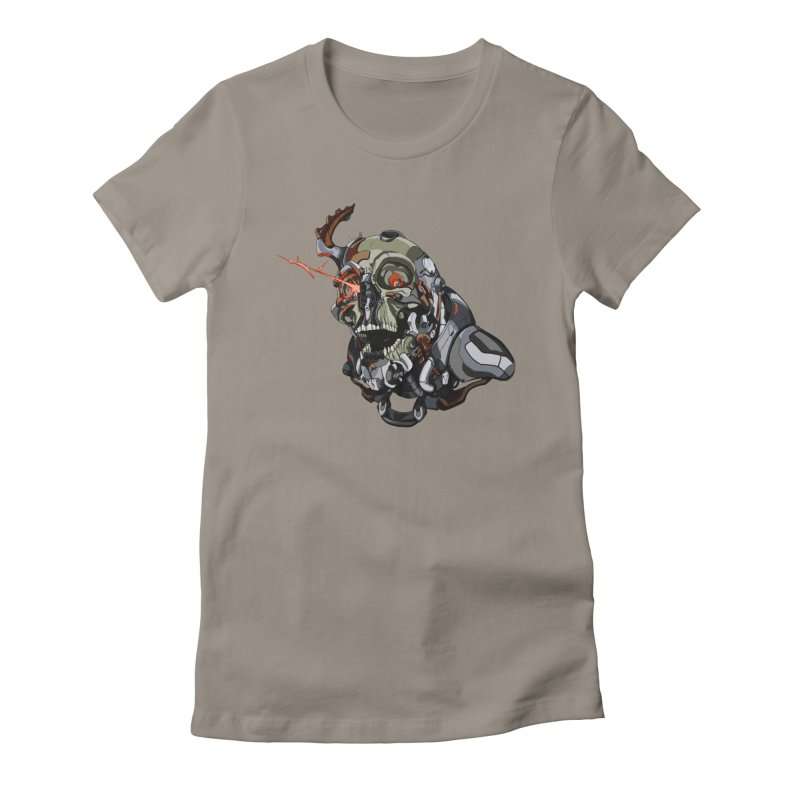 CyberSkull Women's Fitted T-Shirt by FunctionalFantasy Artist Shop
