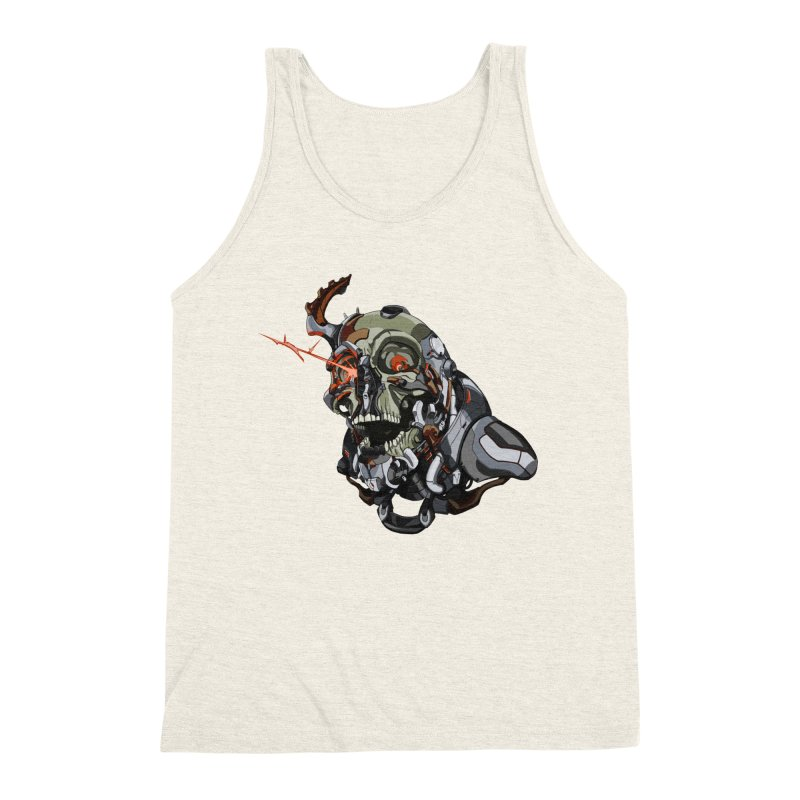 CyberSkull Men's Triblend Tank by FunctionalFantasy Artist Shop