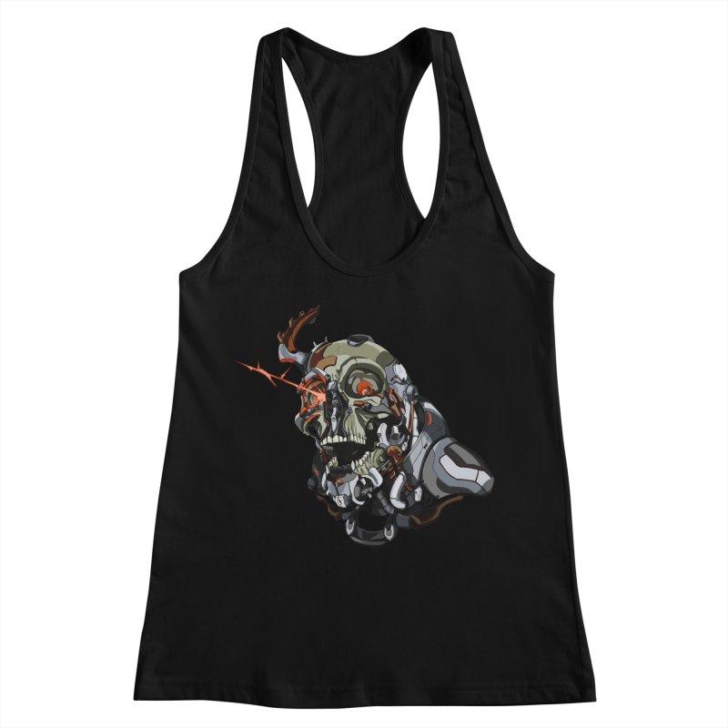 CyberSkull Women's Racerback Tank by FunctionalFantasy Artist Shop