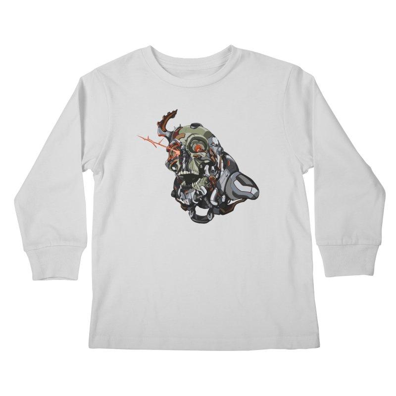 CyberSkull Kids Longsleeve T-Shirt by FunctionalFantasy Artist Shop