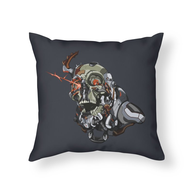 CyberSkull Home Throw Pillow by FunctionalFantasy Artist Shop