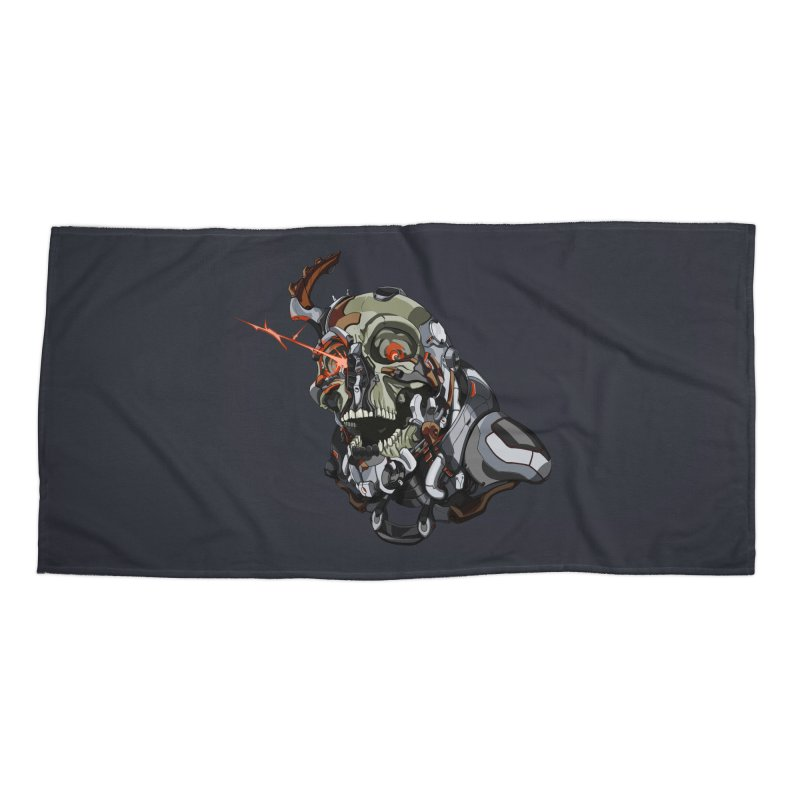 CyberSkull Accessories Beach Towel by FunctionalFantasy Artist Shop