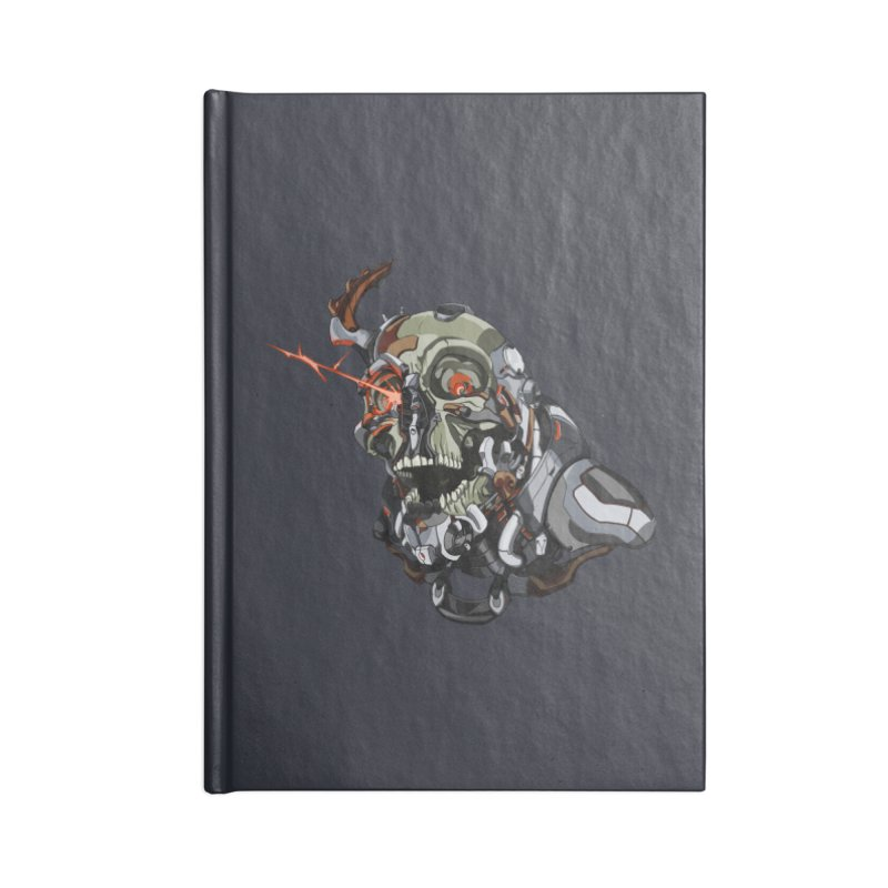 CyberSkull Accessories Lined Journal Notebook by FunctionalFantasy Artist Shop