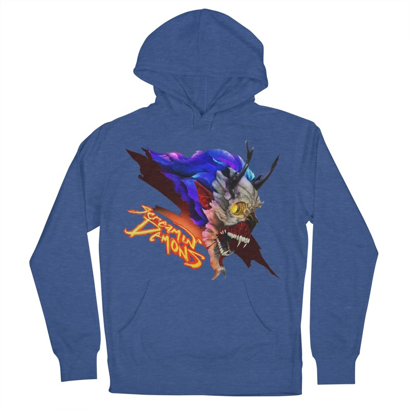 Screamin' Demons Men's French Terry Pullover Hoody by FunctionalFantasy Artist Shop