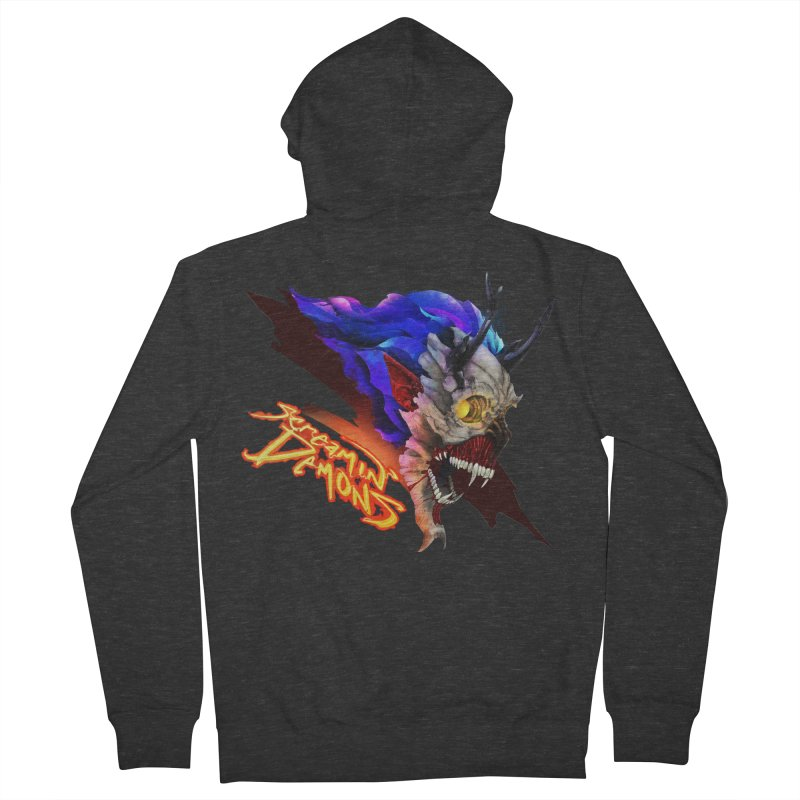 Screamin' Demons Men's French Terry Zip-Up Hoody by FunctionalFantasy Artist Shop