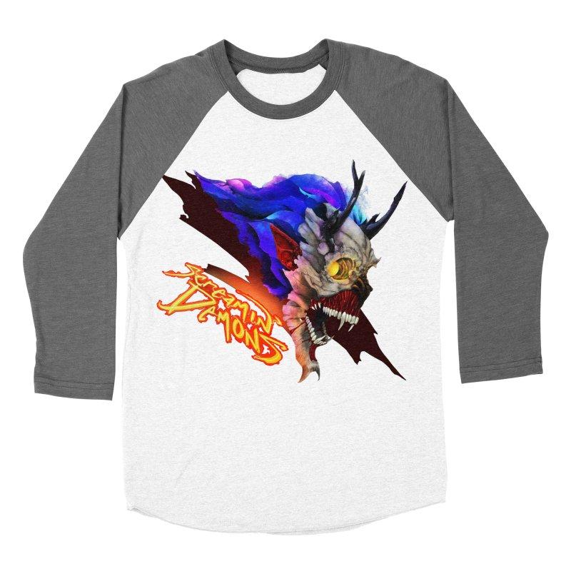 Screamin' Demons Women's Baseball Triblend Longsleeve T-Shirt by FunctionalFantasy Artist Shop
