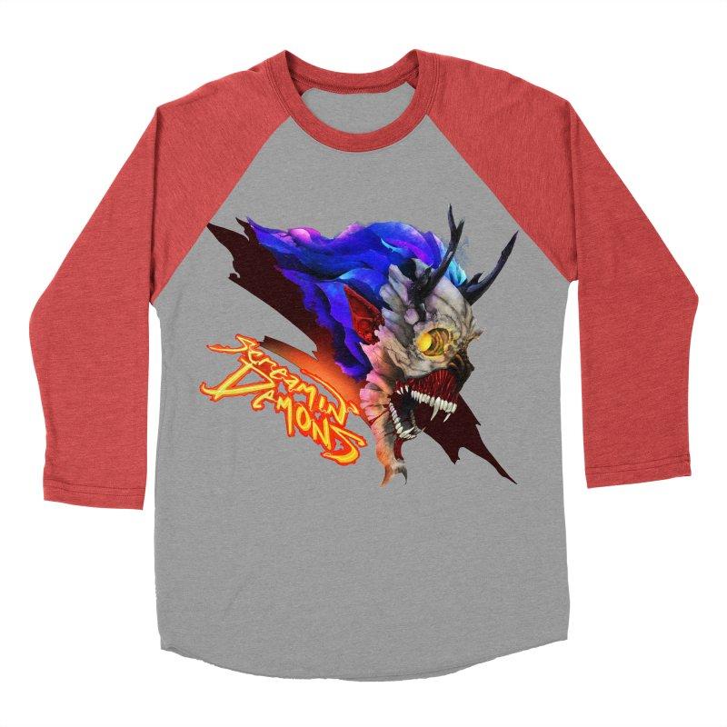 Screamin' Demons Men's Baseball Triblend Longsleeve T-Shirt by FunctionalFantasy Artist Shop