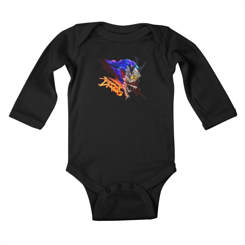 Screamin' Demons Kids Baby Longsleeve Bodysuit by FunctionalFantasy Artist Shop