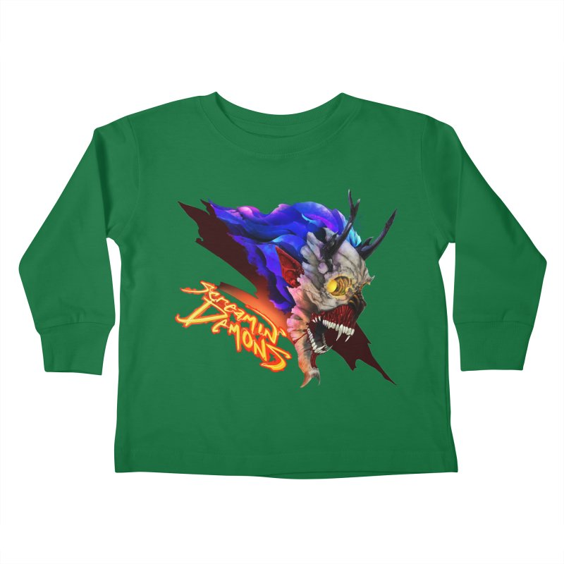 Screamin' Demons Kids Toddler Longsleeve T-Shirt by FunctionalFantasy Artist Shop