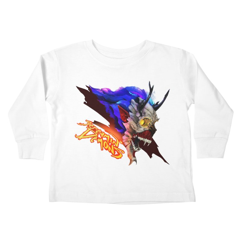 Screamin' Demons Kids Toddler Longsleeve T-Shirt by FunctionalFantasy Artist Shop