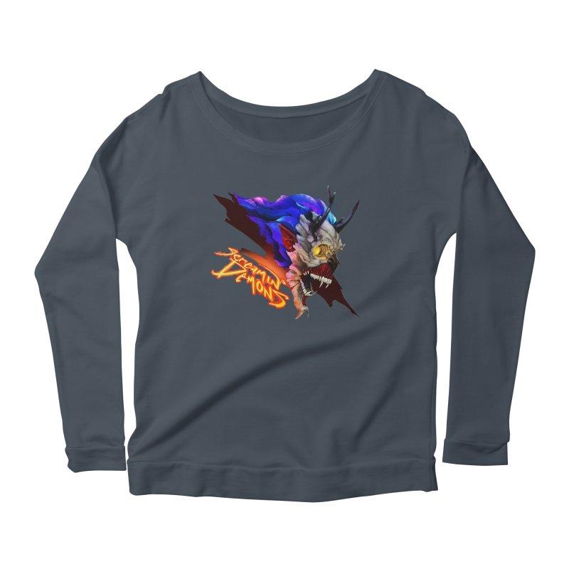 Screamin' Demons Women's Scoop Neck Longsleeve T-Shirt by FunctionalFantasy Artist Shop