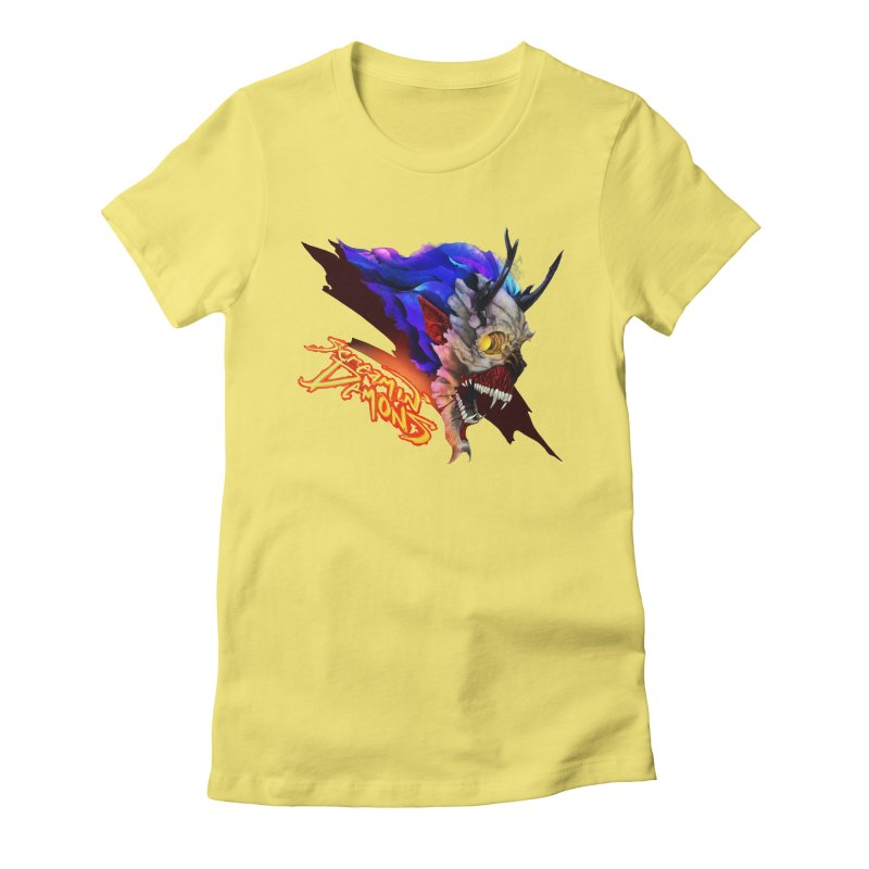Screamin' Demons Women's Fitted T-Shirt by FunctionalFantasy Artist Shop