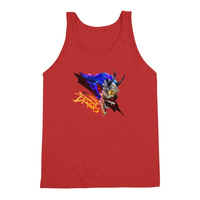 Screamin' Demons Men's Triblend Tank by FunctionalFantasy Artist Shop