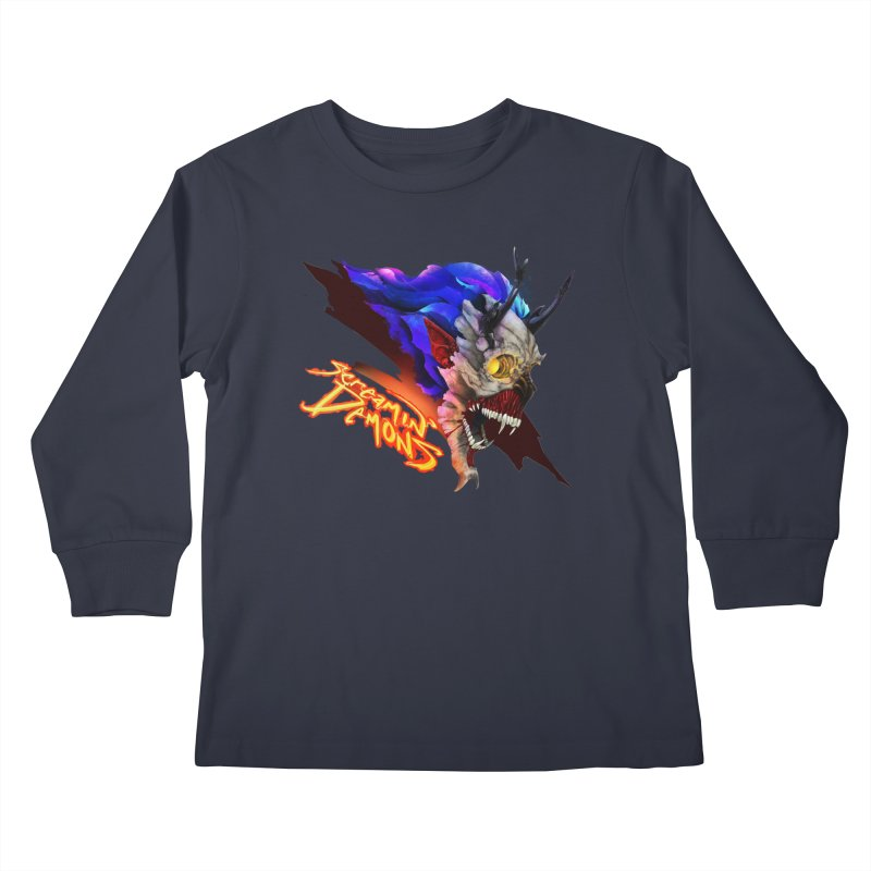 Screamin' Demons Kids Longsleeve T-Shirt by FunctionalFantasy Artist Shop