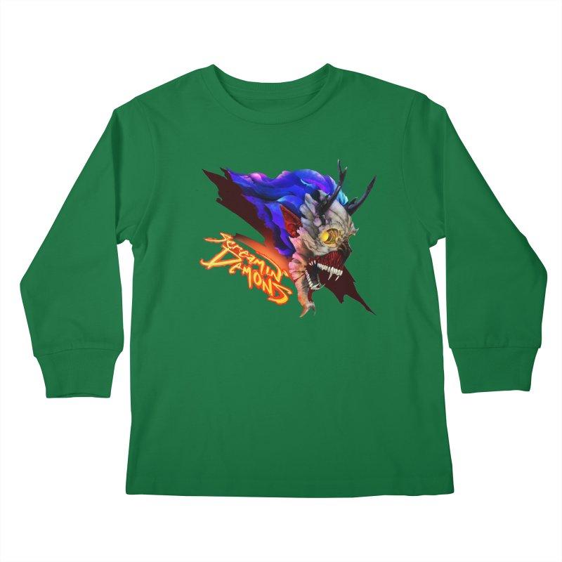 Screamin' Demons Kids Longsleeve T-Shirt by FunctionalFantasy Artist Shop