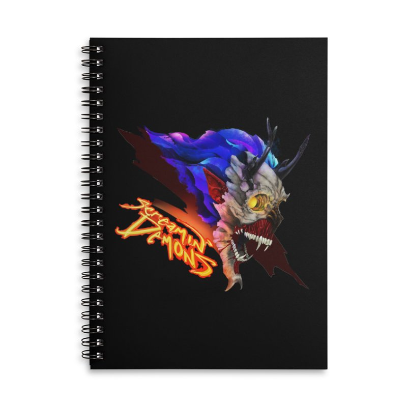 Screamin' Demons Accessories Lined Spiral Notebook by FunctionalFantasy Artist Shop