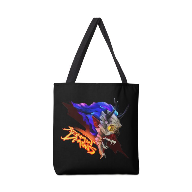 Screamin' Demons Accessories Tote Bag Bag by FunctionalFantasy Artist Shop