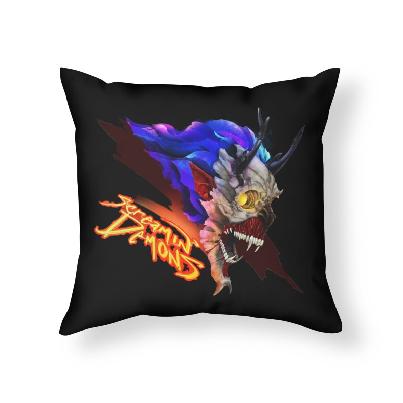 Screamin' Demons Home Throw Pillow by FunctionalFantasy Artist Shop