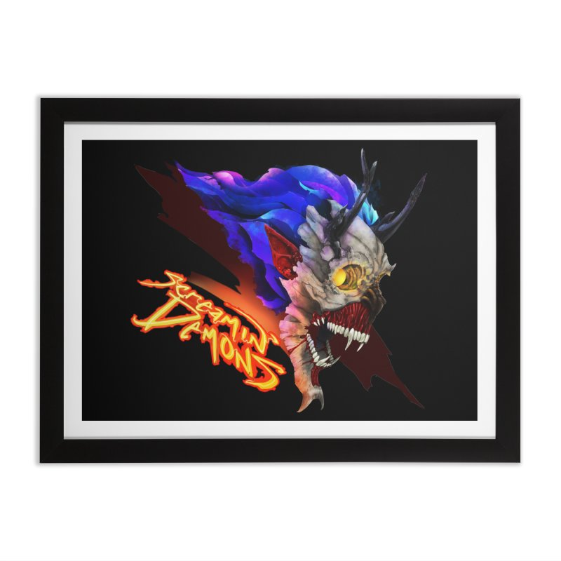 Screamin' Demons Home Framed Fine Art Print by FunctionalFantasy Artist Shop