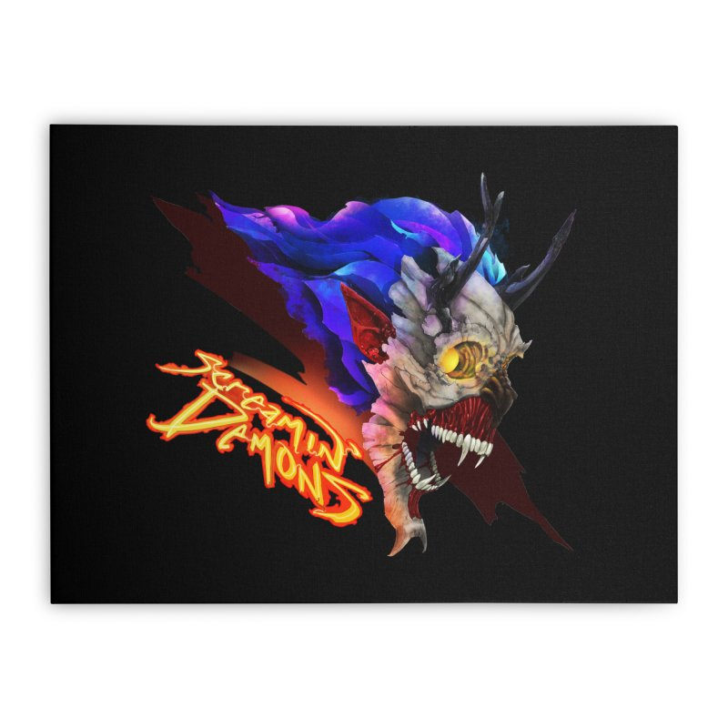 Screamin' Demons Home Stretched Canvas by FunctionalFantasy Artist Shop