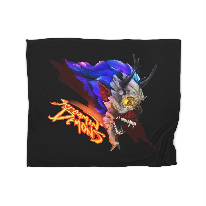 Screamin' Demons Home Fleece Blanket Blanket by FunctionalFantasy Artist Shop