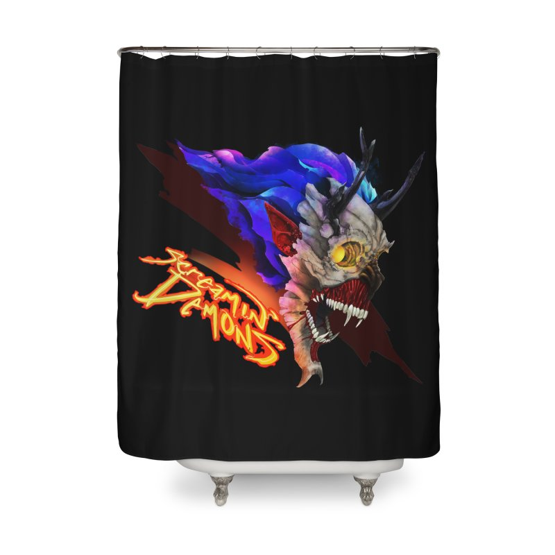 Screamin' Demons Home Shower Curtain by FunctionalFantasy Artist Shop