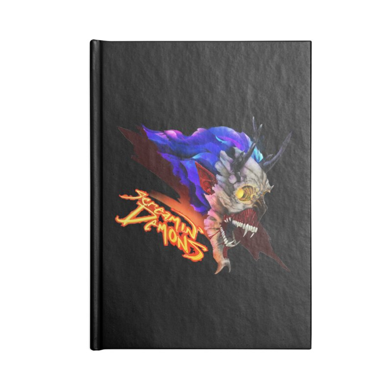 Screamin' Demons Accessories Lined Journal Notebook by FunctionalFantasy Artist Shop