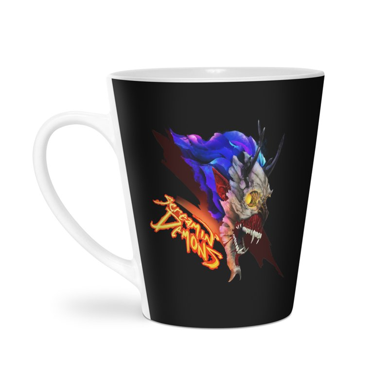 Screamin' Demons Accessories Latte Mug by FunctionalFantasy Artist Shop