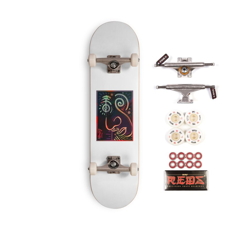Black Lit Accessories Complete - Pro Skateboard by Fuzzy Poet's Artist Shop