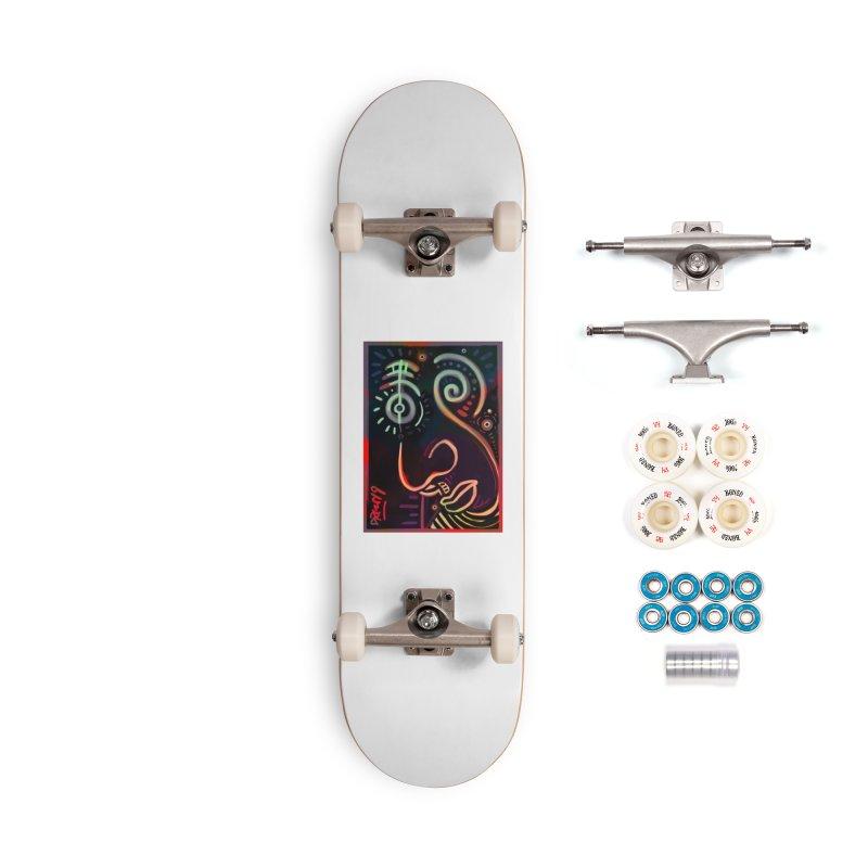 Black Lit Accessories Complete - Premium Skateboard by Fuzzy Poet's Artist Shop