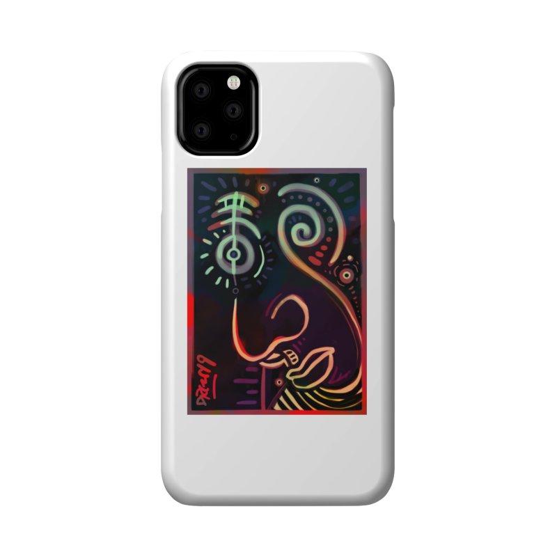 Black Lit Accessories Phone Case by Fuzzy Poet's Artist Shop