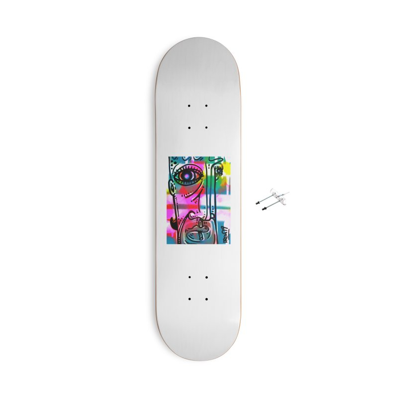 Spray It To Say It Accessories With Hanging Hardware Skateboard by Fuzzy Poet's Artist Shop