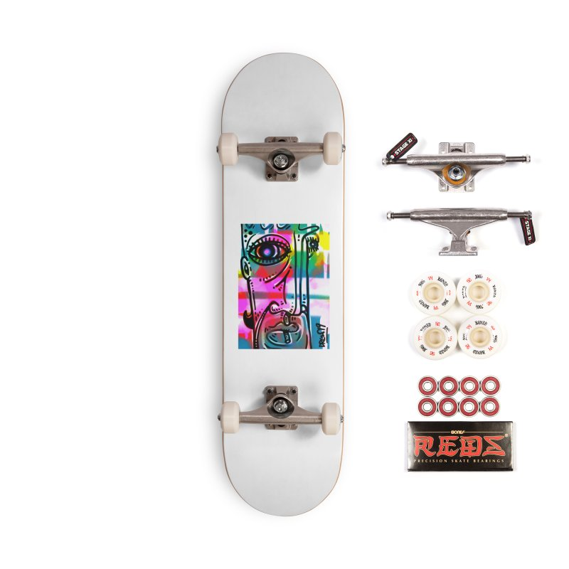 Spray It To Say It Accessories Complete - Pro Skateboard by Fuzzy Poet's Artist Shop