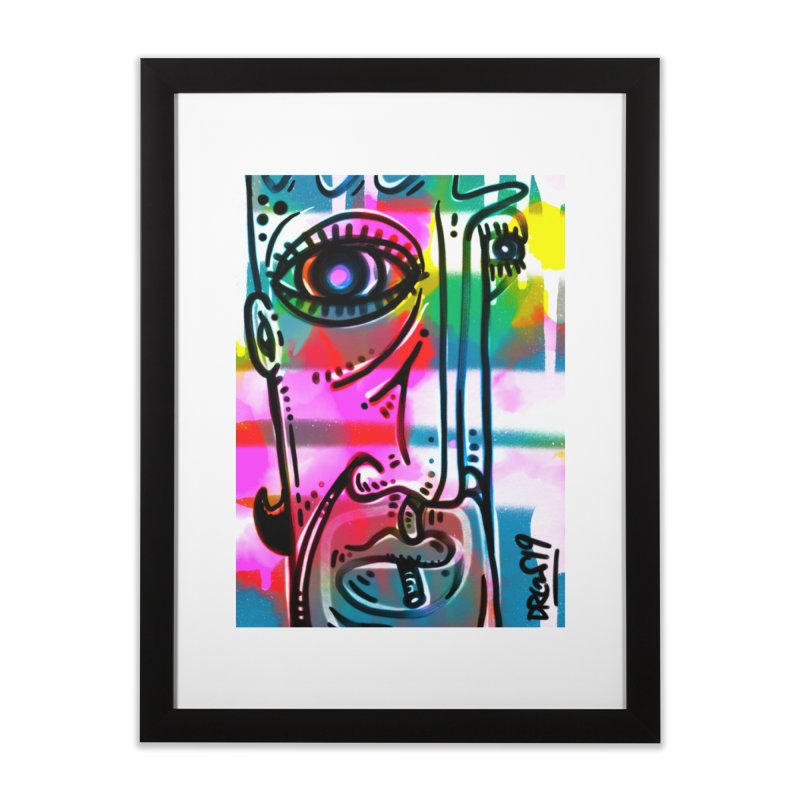 Spray It To Say It Home Framed Fine Art Print by Fuzzy Poet's Artist Shop