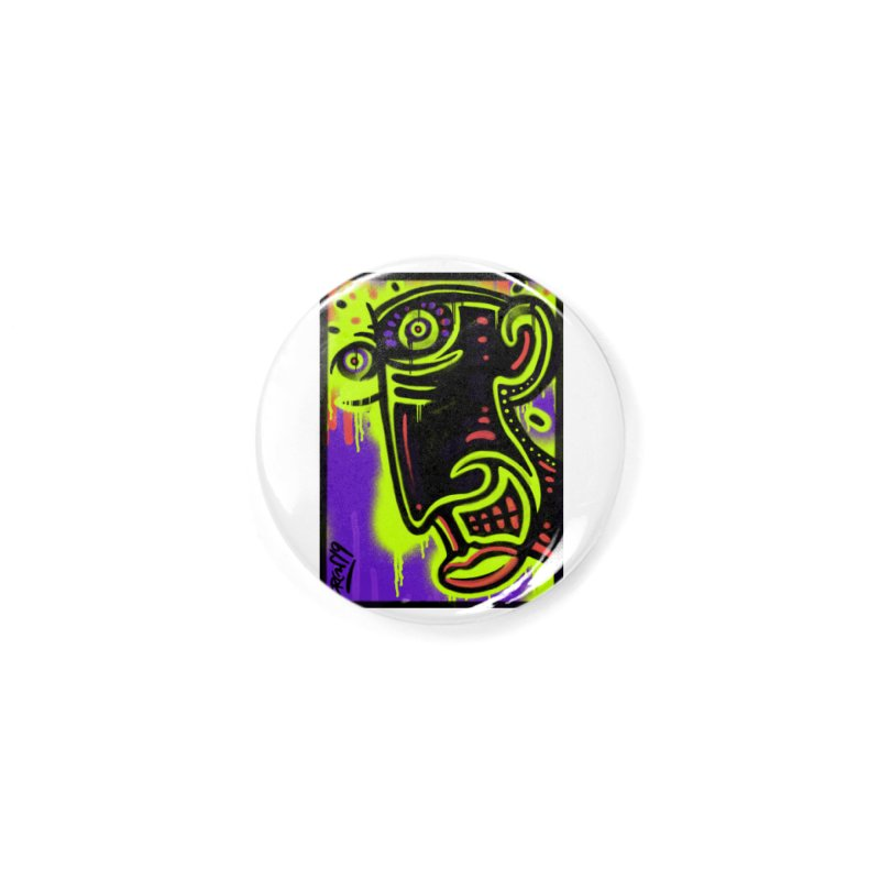 Neon Greened Accessories Button by Fuzzy Poet's Artist Shop