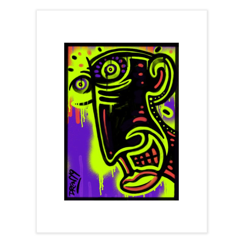 Neon Greened Home Fine Art Print by Sophisticated Lowbrow Art For The Discerning Masse