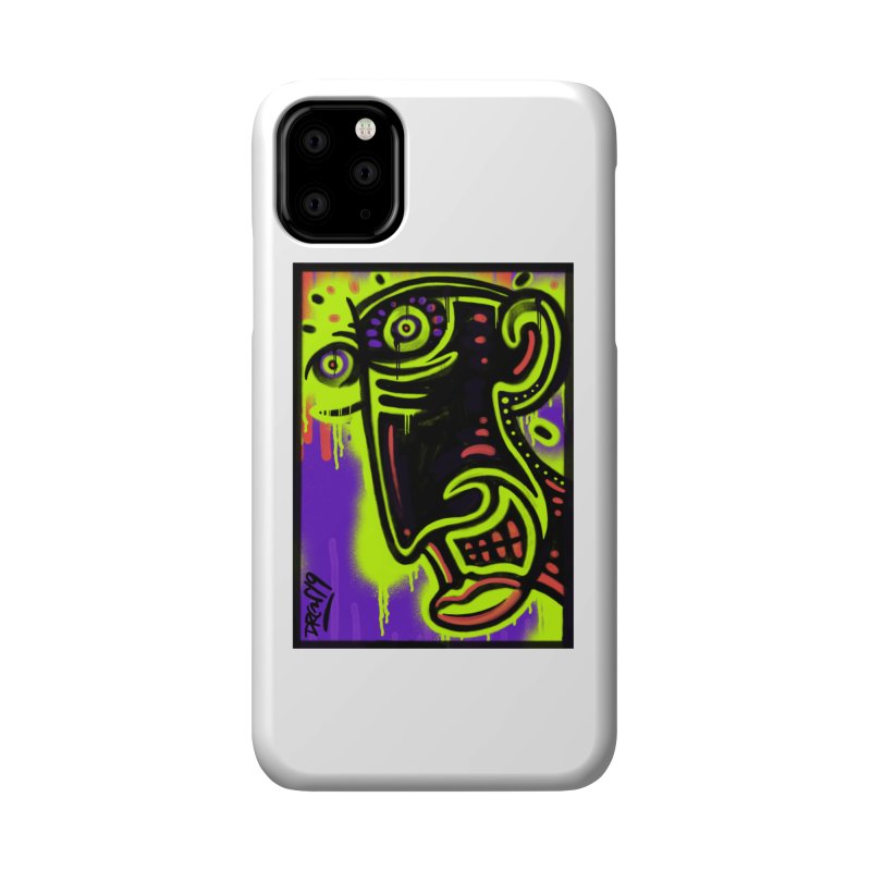 Neon Greened Accessories Phone Case by Fuzzy Poet's Artist Shop