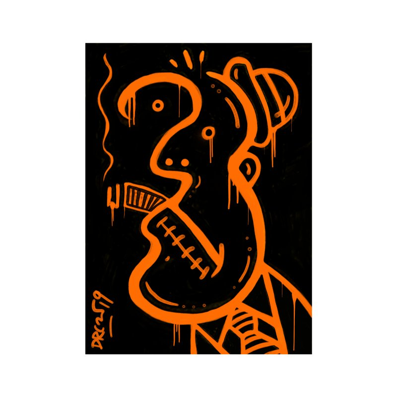 Orange Drip Dry Guy Home Fine Art Print by Fuzzy Poet's Artist Shop